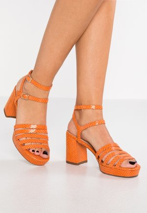 High Heel Sandalette - orange