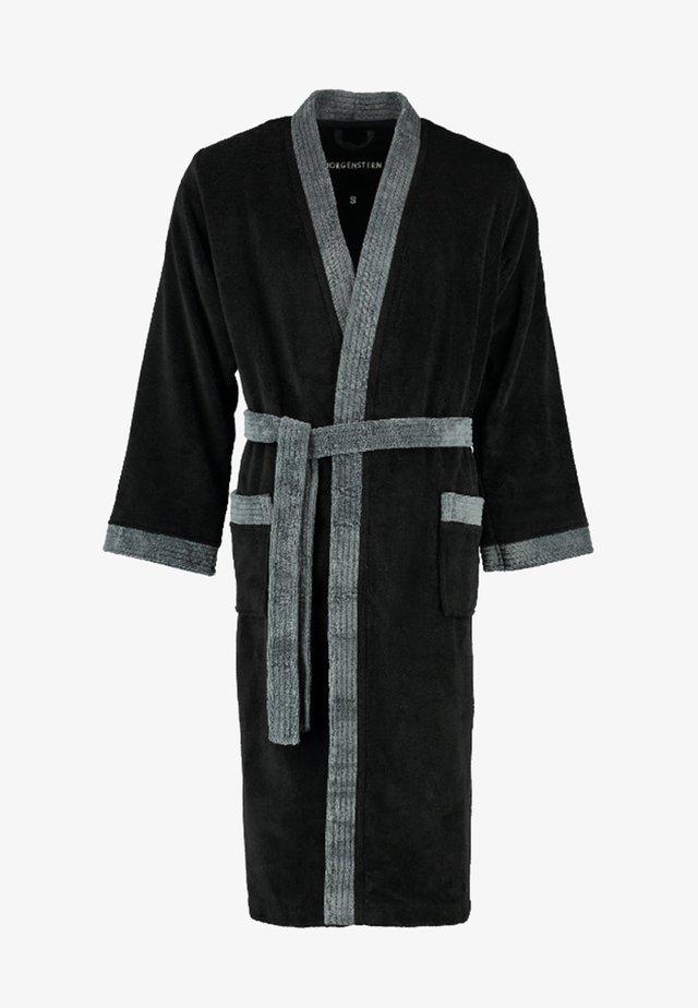 JACK - Dressing gown - schwarz/anthrazit