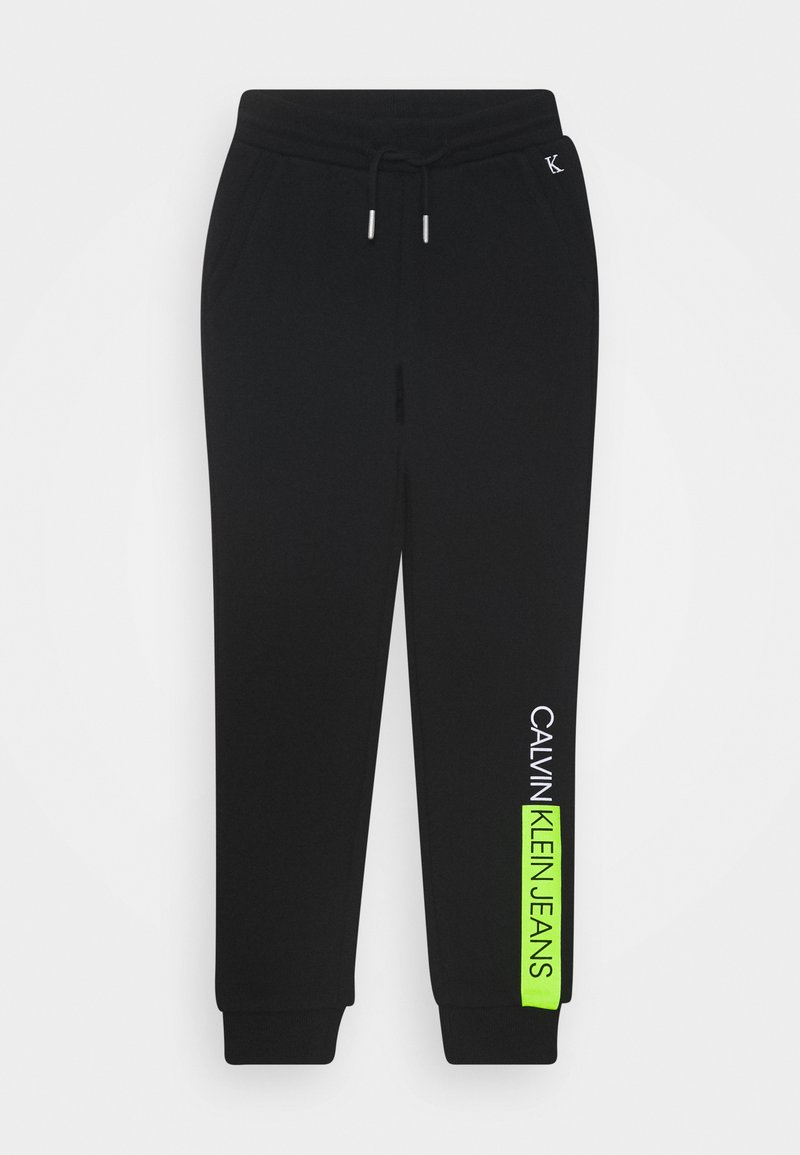 Calvin Klein Jeans - INSTITUTIONAL BLOCK - Tracksuit bottoms - black