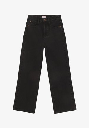 WIDE LEG - Jeansy Relaxed Fit - dusk black
