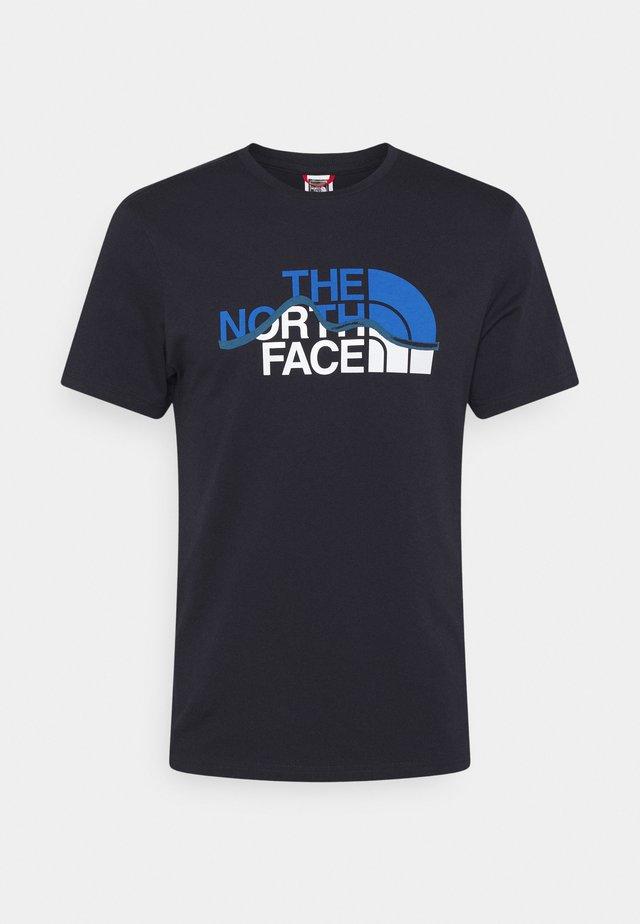 MOUNTAIN LINE TEE - T-shirt con stampa - aviator navy