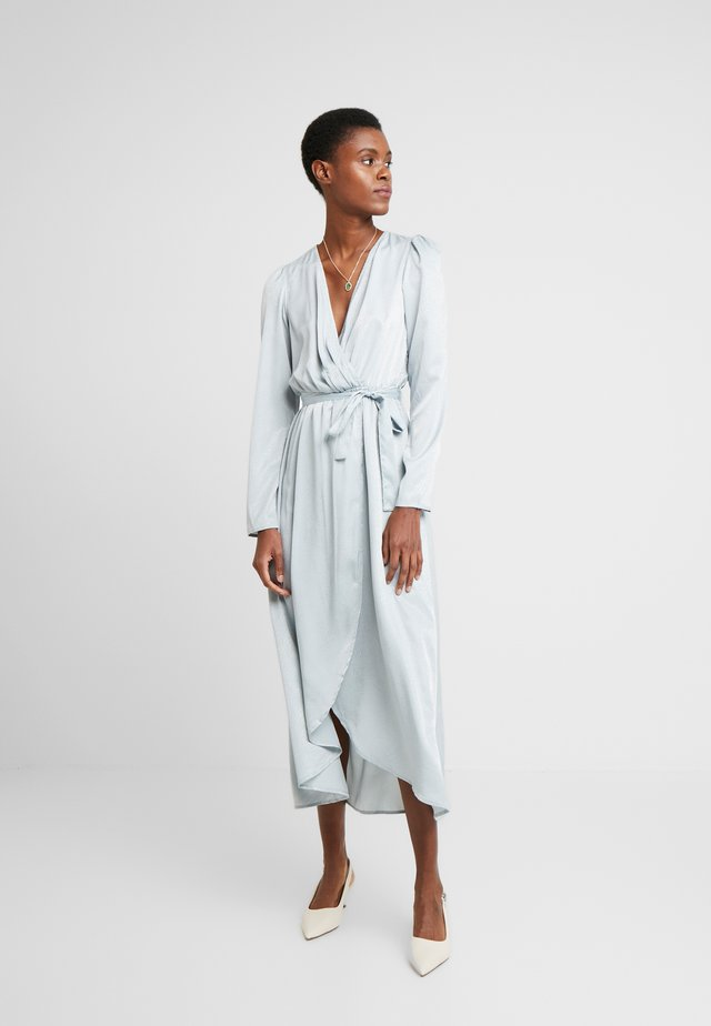 VMJULIA V-NECK CALF DRESS - Day dress - slate