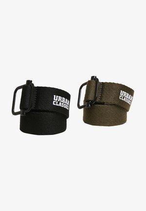 2 PACK - Belt - black/olive