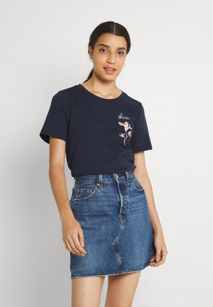 VISHINE EMBROIDERY  - Printtipaita - navy blazer