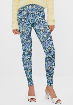 MIT BLUMENPRINT - Leggings - Trousers - blue