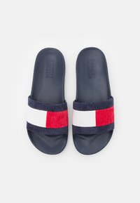 Tommy Jeans - CORDUROY FLAG POOL SLIDE - Mules - white - 3