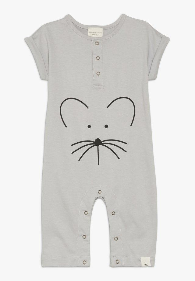 MOUSE FACE PLAYSUIT BABY - Strampler - grey