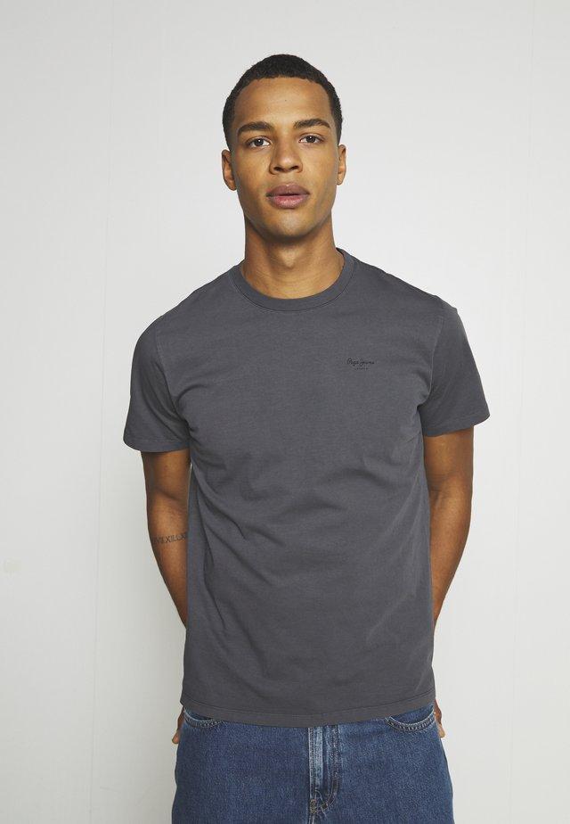 ALBERT UNISEX - T-shirt z nadrukiem - steel grey