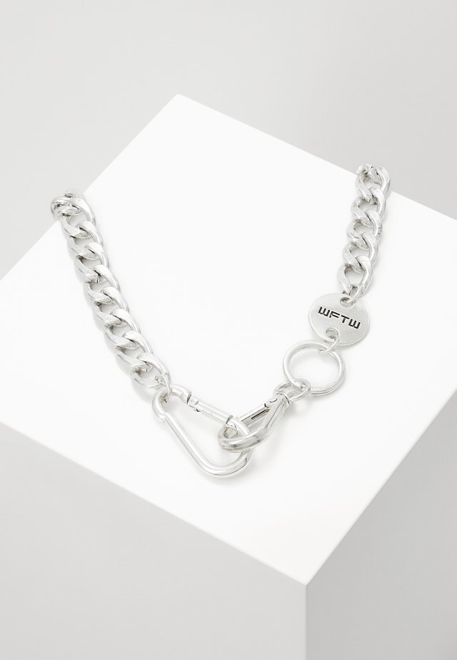 CLASP LINK SHORT NECKLACE - Ketting - silver-coloured