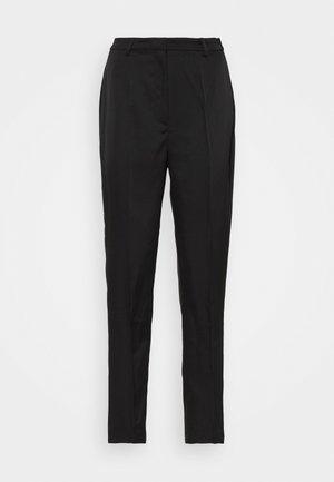 STRAIGHT SUIT PANTS - Trousers - black