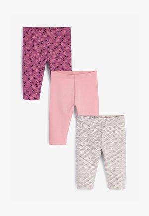 3 PACK - Leggings - Trousers - dark purple