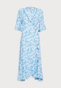 Esqualo - DRESS WRAP SUMMER SHADOW - Maxikjoler - light blue - 3