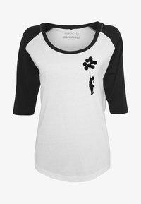 Merchcode - LADIES BANKSY - Long sleeved top - white/black - 4