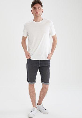 Denim shorts - anthracite