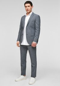 s.Oliver BLACK LABEL - Pantaloni eleganti - dark blue check - 1