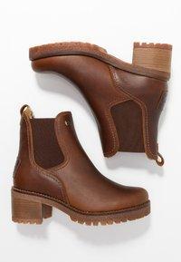 Panama Jack - PIA - Kotníkové boty na platformě - grass/bark - 3
