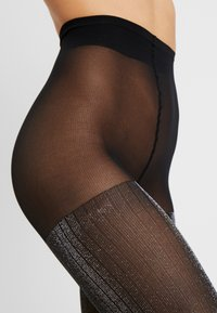 Swedish Stockings - LISA TIGHTS 50 DEN - Strømpebukser - black/silver - 2