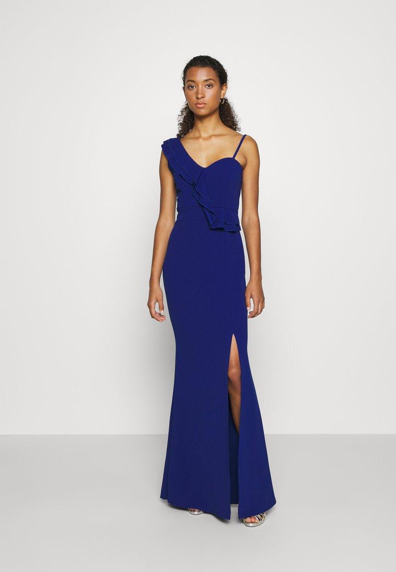 WAL G. - FRILL DETAIL DRESS - Suknia balowa - cobalt blue
