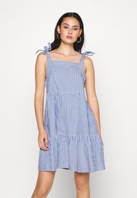 Monki - THELMA SUMMER DRESS - Kjole - blue medium - 0