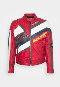 Diesel - L-POWER - Leather jacket - red - 0