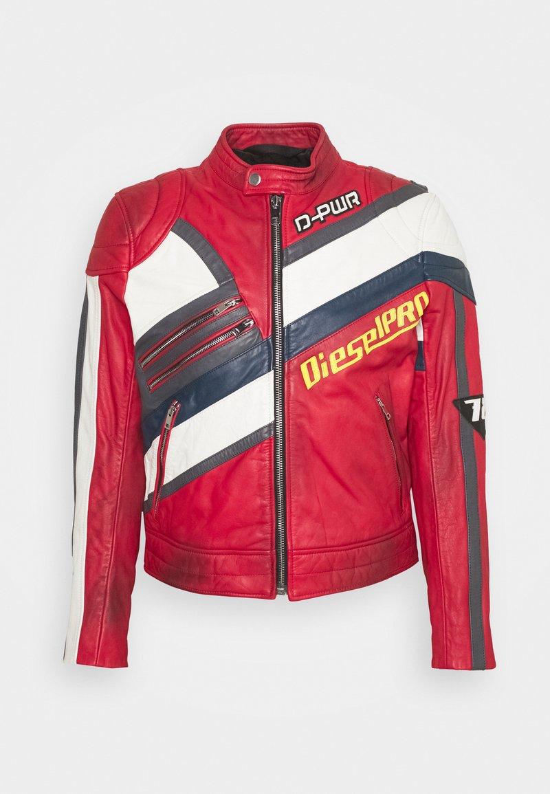 Diesel - L-POWER - Leather jacket - red