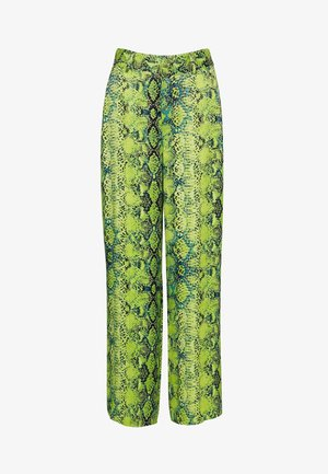 Trousers - green snake