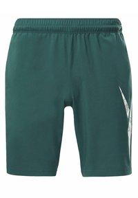 Reebok - WORKOUT READY GRAPHIC SHORTS - Pantalón corto de deporte - green - 6