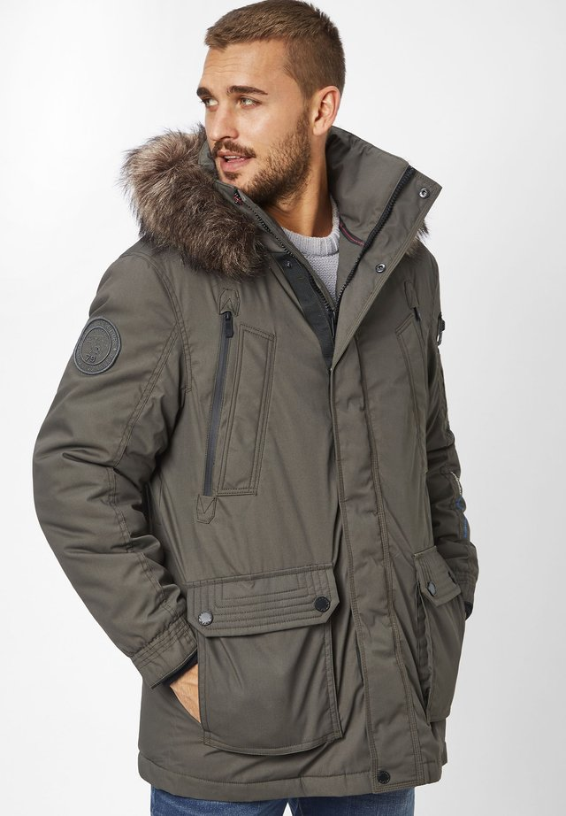 EDDY - Winter coat - olive
