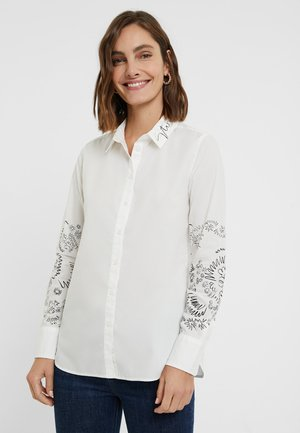 CHIARA - Button-down blouse - white