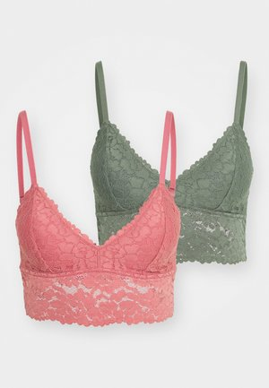 2 PACK - Bustier - green/pink
