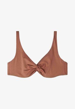 Bikini top - indian brown