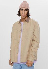 Bershka - AUS CORD - Shirt - beige - 0