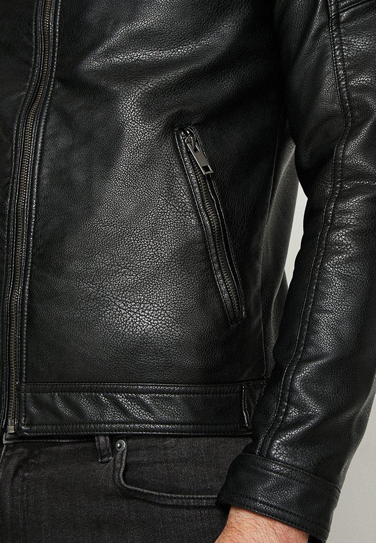 New Arrival Shop For Men's Clothing Jack & Jones JJEROCKY JACKET Faux leather jacket black SAgxDRRK5 uNpv0NOkG