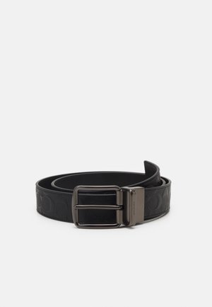 WIDE BELT - Pasek - black