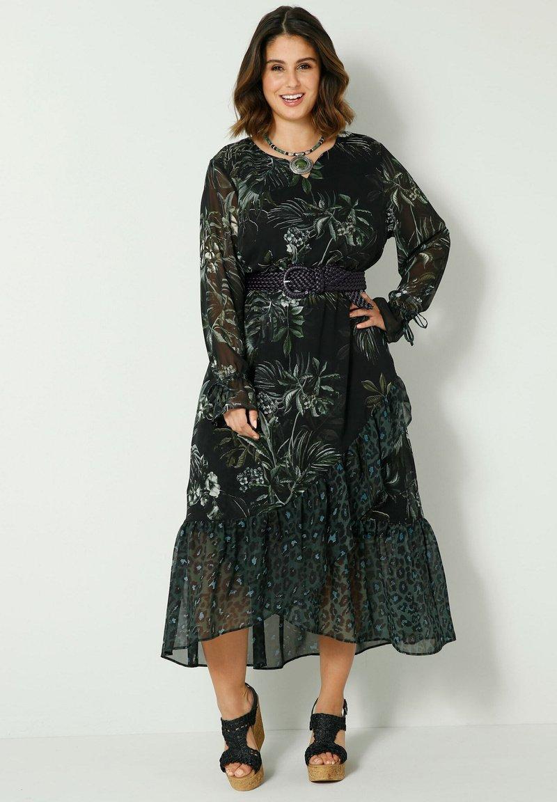 Sara Lindholm by HAPPYsize - Maxi dress - schwarz/grün