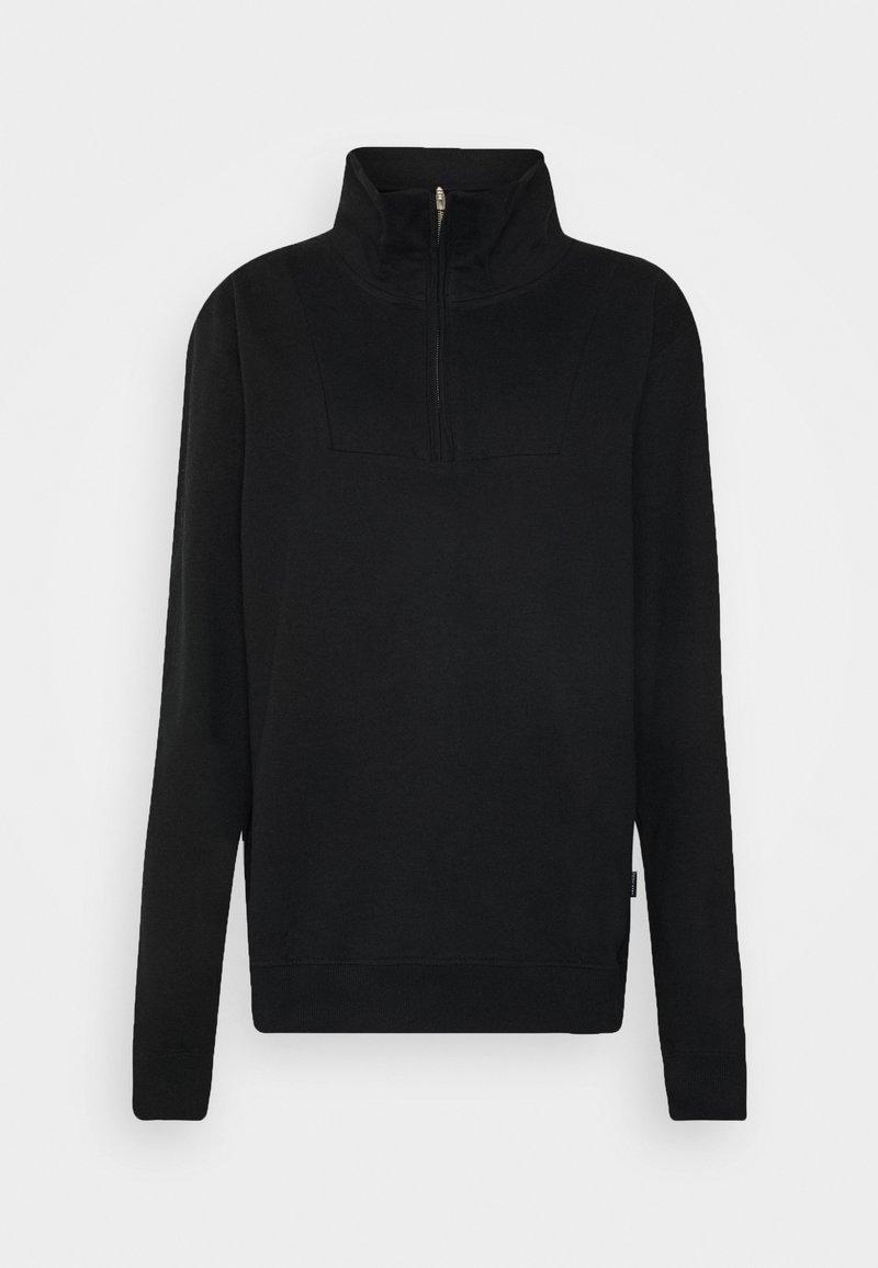 Dedicated - HALFZIP MARIESTAD - Sweatshirt - black