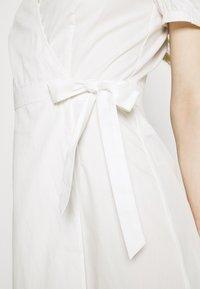 Vila - VISILLE WRAP MIDI DRESS - Day dress - snow white - 4