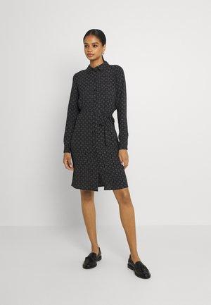 VMSAGA COLLAR SHIRT DRESS  - Blousejurk - black