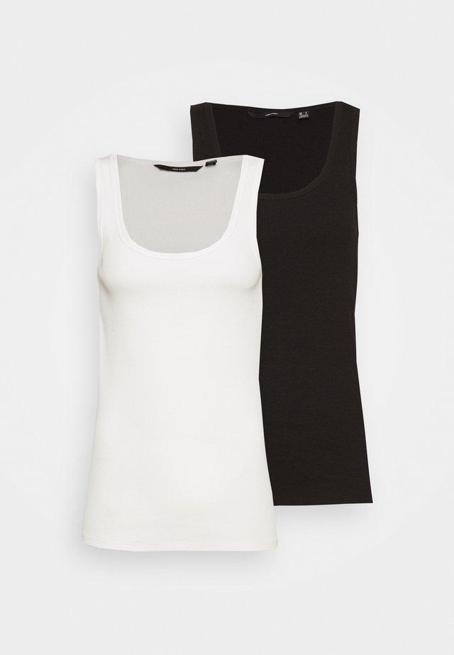 VMJESSICA TANK 2 PACK - Top - black/snow white