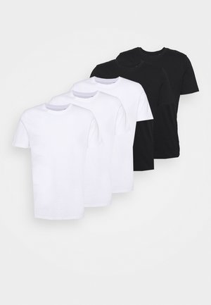 JJEORGANIC BASIC TEE O-NECK 5 PACK - T-shirt - bas - black, white