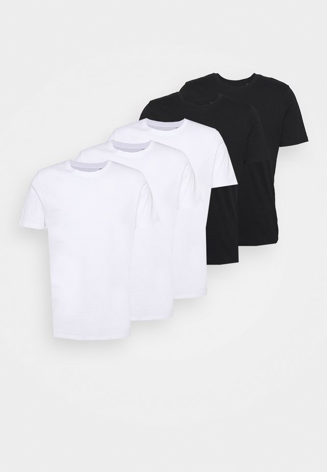 JJEORGANIC TEE O NECK  - T-shirt - bas - black, white