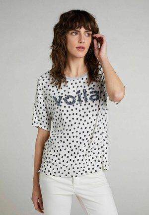 Print T-shirt - offwhite black