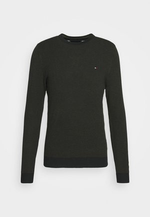 MOULINE STRUCTURE CREW NECK - Neule - green