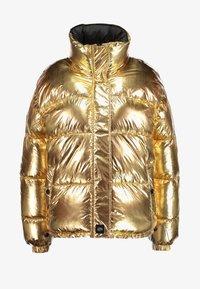 Sixth June - OVERSIZE SHINNY PUFFER JACKET - Winter jacket - gold - 4