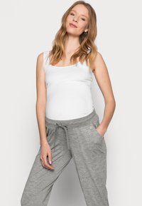 GAP Maternity - UNDERBELLY MIX - Tracksuit bottoms - antique pewter - 3