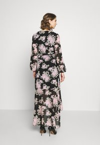 Missguided - HIGH LOW BALLOON MIDI DRESS FLORAL - Maxi dress - black - 2