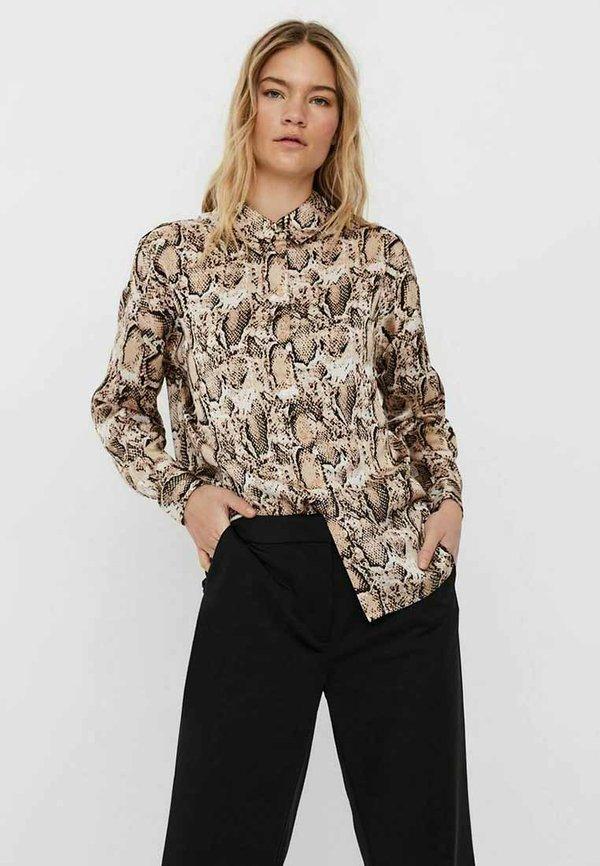 Vero Moda Koszula - black 1/czarny melanż QBAM