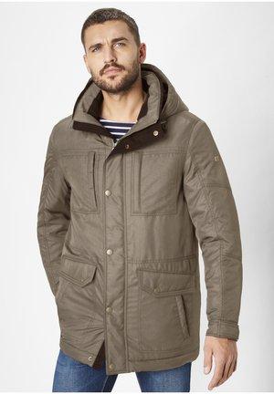 Winter coat - brown melange