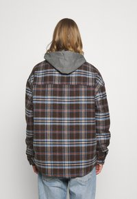 Sixth June - OVERSIZE TARTAN WITH HOOD - Light jacket - dark brown - 2
