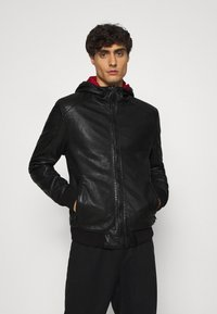Gipsy - GRAYDON - Leather jacket - black - 0